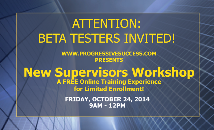 New Supervisors Workshop - Beta Session Short Poster