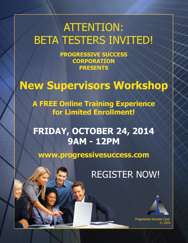 New Supervisors Workshop Beta Test Poster
